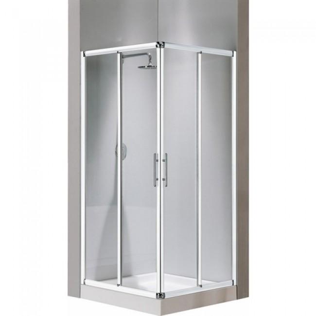 Côté pour paroi de douche Lunes A - verre transparent - 96 à 99 cm