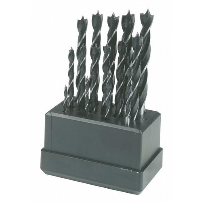 Coffret de 15 mèches à bois 3 à 10 mm LEMAN