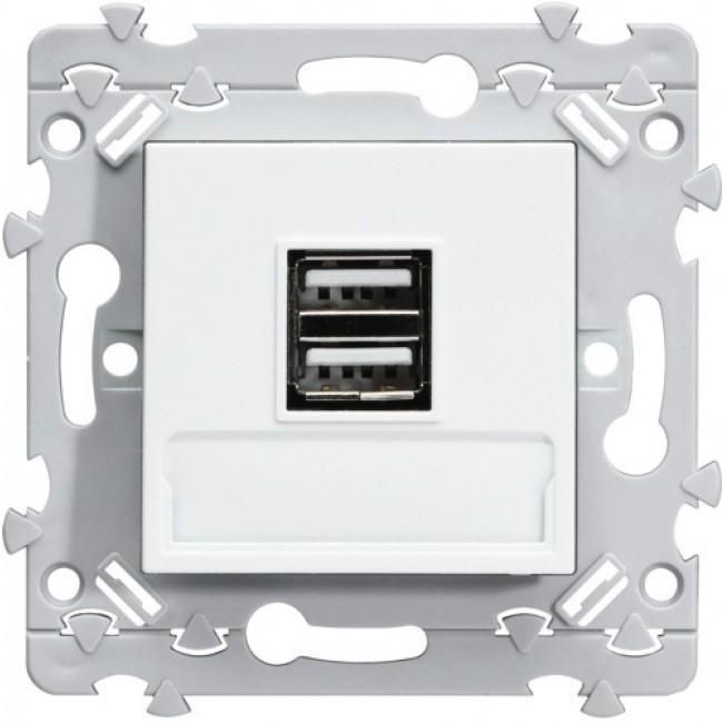 Prise double chargeur USB - Essensya HAGER