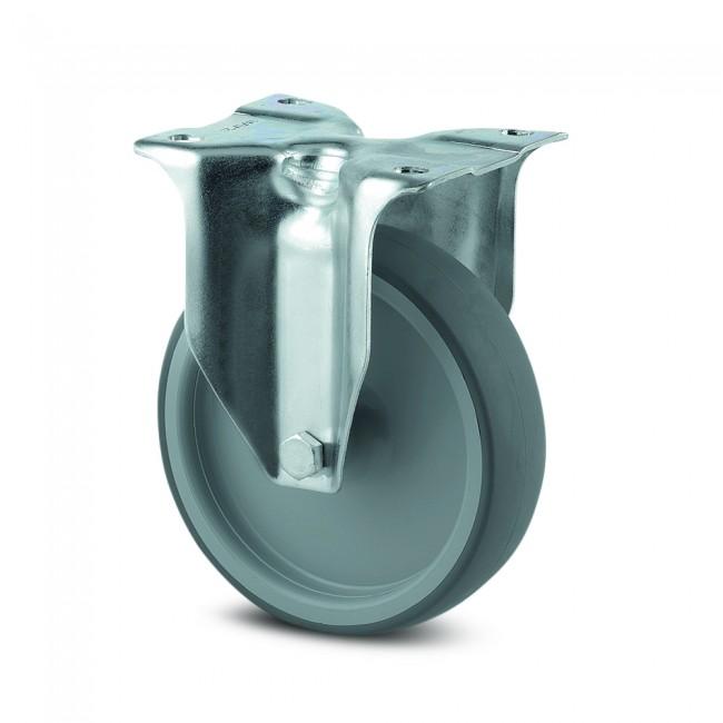 Roulette fixe - caoutchouc non tachant - charge légère - Alpha TENTE