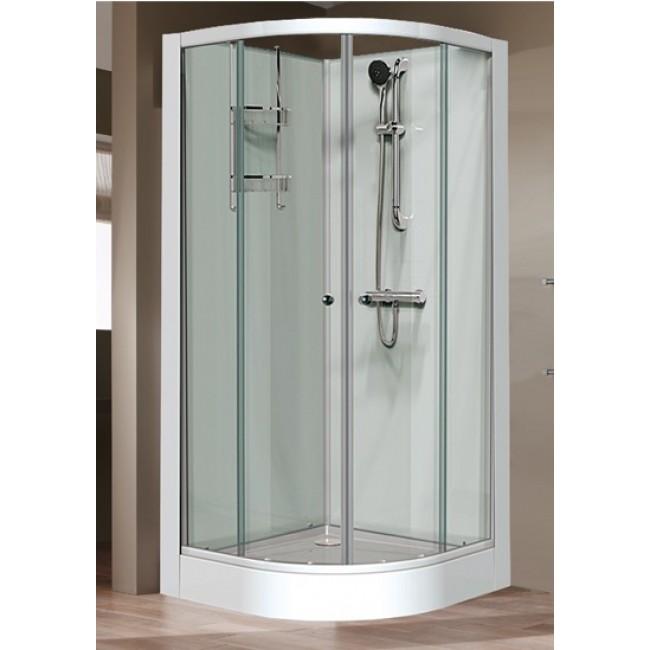Cabine de douche 1/4 C 90x90 cm - portes coulissantes - Iziglass LEDA