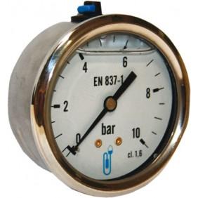 Manomètre axial à boîtier en inox - diamètre 63 mm DISTRILABO