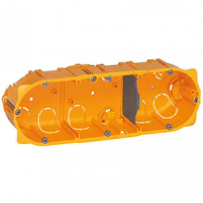 Boîte d'encastrement Batibox 3 postes pour cloisons sèches LEGRAND