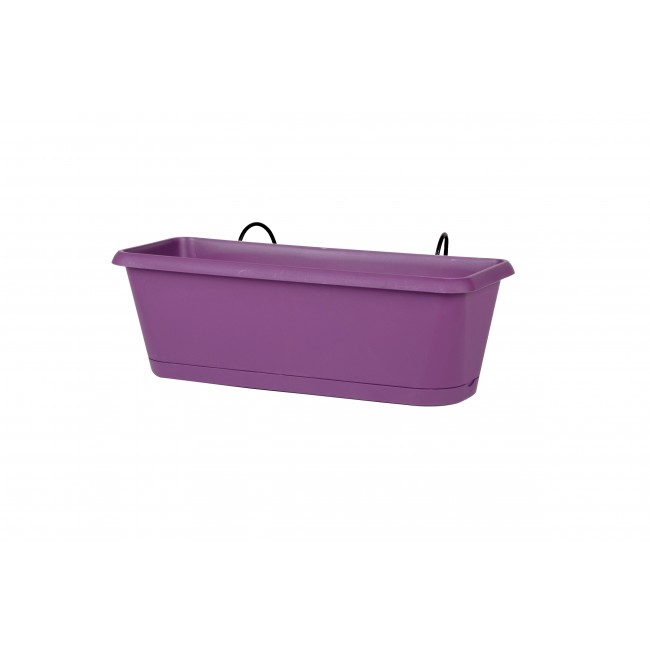 Jardinière prune + support invisible - 2,57 litres - Chorus 11458