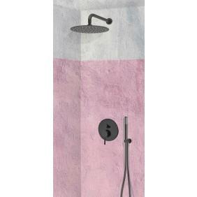 Colonne de douche encastrable murale LOTO avec mitigeur TRENTO + Noir SARODIS