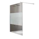 Paroi de douche à l'italienne Open 2 - verre sérigraphié - 90 cm LEDA