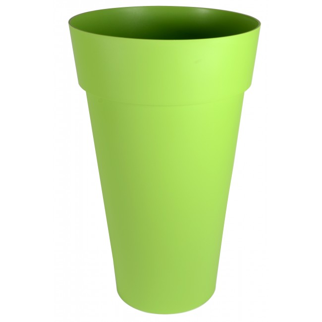 Pot haut rond pistache - diamètre 48 cm -  90 litres - Toscane 13637