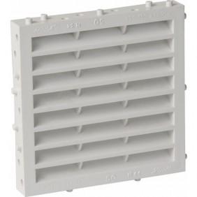 Grille de ventilation extérieure à sceller, avec moustiquaire, 144x144, 100cm2 NICOLL